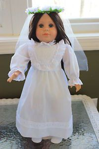 """Lucia of Fatima Doll Like American Girl First Communion Gift 2 Dresses Veil 18"""""""