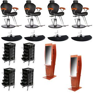 New Salon Equipment Barber Styling Chair Mat Wall Mount Station Trolley DP 70F