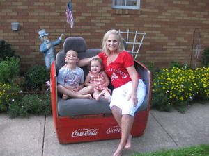 Coke Coca Cola Cooler Ice Chest Love Seat Couch Chair Hot Street Rat Rod Garage