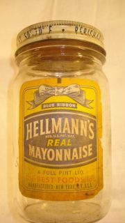 This Is A RARE Example of An Original Richard Hellman's Mayonnaise Jar