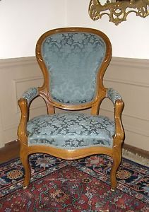 "Biggs Antique Furniture Company ""Jefferson Davis"" Victorian Chair"