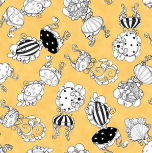 1 2 yd Loralie Sunshine Resort Bistro Chairs Taxi Cab Yellow Gold Cotton Fabric