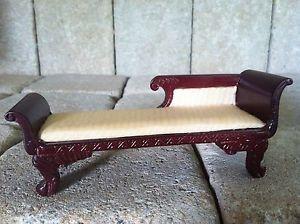"""2 1 8""""H x 6""""w Bespaq Chaise Lounge Chair Sofa Miniatures Dollhouse"""