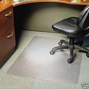 ... ES Robbins Anchorbar Rectangular Office Chair Mat Carpet High Pile 46 X  60 Clear ...
