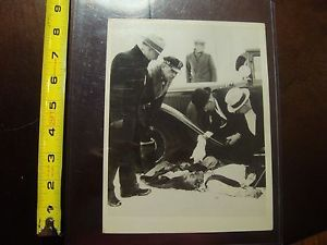 1930s Chicago Crime Scene Photo Mob Gangster News Photograph