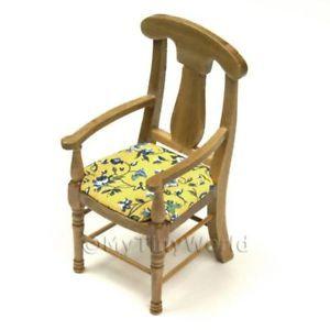 Floral Pine Kitchen Chair Dolls House Furniture FR23
