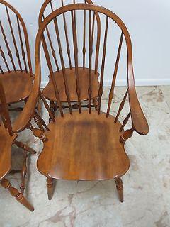 6 Ethan Allen Circa 1776 Windsor Back Dining Room Chair Set