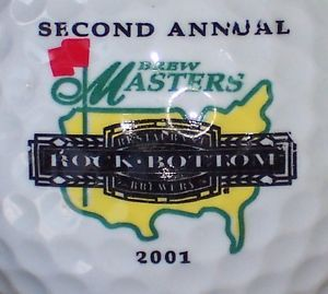 1 Rock Bottom Brewery Beer Logo Golf Ball 2001 Brew Masters