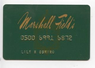 Vintage Marshall Field's Credit Card