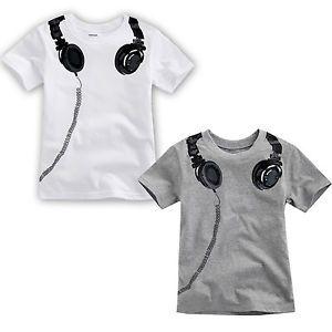 """Vaenait Baby Toddler Kids Boy Unisex Round Neck Top T Shirts """" Headphones """""""