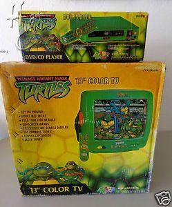 """TMNT 13"""" Color TV DVD Player Lot Teenage Mutant Ninja Turtles TV DVD SEALED"""