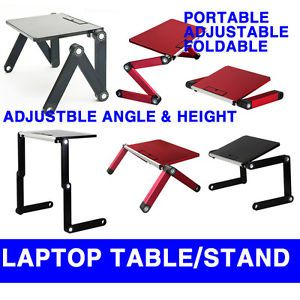 Portable Folding Laptop Table Desk Stand Tray for Notebook iPad Adjustable Angle