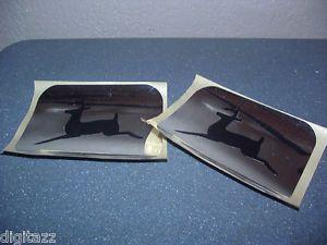 Two John Deere Logo Decal Sticker Plow Blower Tiller Seat 300 316 317 318 430