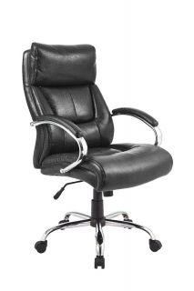 basyx vl151 executive high back leather chair black