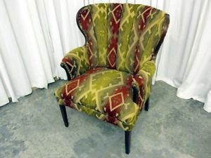 Vintage Channel Back Wing Chair New Upholstery Extra Nice Show Room Quality Look