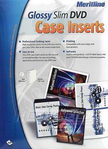 50 Sheets Merax Glossy Slim DVD Case Inserts