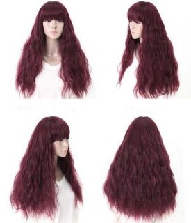 New Sexy Womens Girls Cosplay Party Long Hair Full Bangs Fashion Wigs WA70