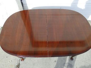 Ethan Allen Georgian Court Dining Room Table 6 Chairs Solid Cherry Finish 205