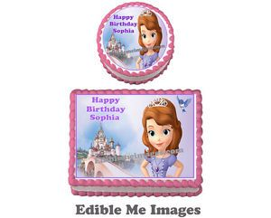 Disney Princess Sophia The First Birthday Party Cake Topper Cupcake Decoration