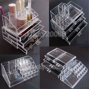 1XCLEAR Acrylic Cosmetic Organizer Makeup Case Jewelry Drawer Storage Box 8 Gift