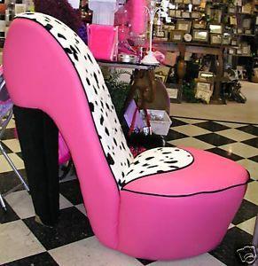 ... New Dalmatian High Heel Shoe Chair Furniture Girl Gift DAL HHSC ...