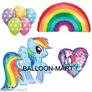 My Little Pony Rainbow Dash Party Baby Shower Birthday Balloons Polka Dots Sunny