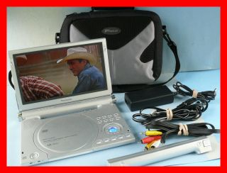 "Panasonic DVD LA95 Portable DVD Player 9"" with 5 1 Channel Accessories Case"