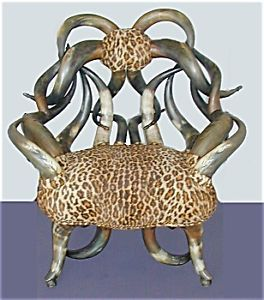 Aesthetic Movement 19th Century Longhorn Arm Chair