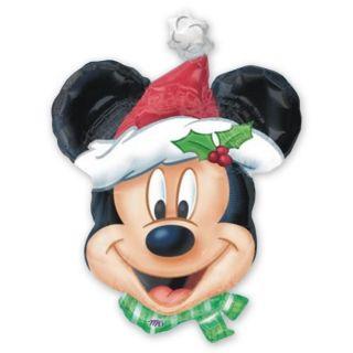 "36"" Disney Mickey Mouse Head Christmas Supershape Foil Balloon"