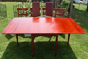 Vintage Pensylvania House MT Vernon Solid Cherry Gateleg Table 4 Chairs Leaves