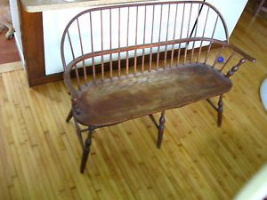 Windsor Bench Conant Bell Furniture Makers Boston Massachusetts