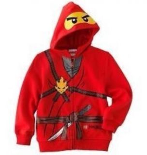 NWT New Lego Ninjago Kai Zipper Boys' Red Costume Hoodie Hooded Jacket 2T