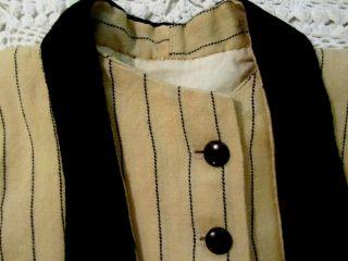Antique Homespun Handmade Wool Baby Coat Primitive Nursery Clothes Doll AAFA