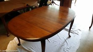 """8 Piece Ethan Allen Dining Room Set 102"""" Table 6 Chairs Hutch"""