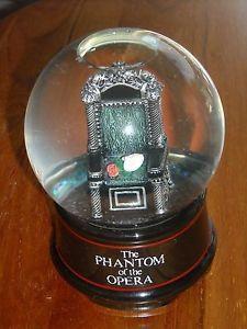 Phantom of The Opera San Francisco Music Box Mask Rose Chair Lair Musical Globe