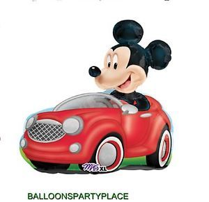 Jumbo Disney Mickey Mouse Driving Balloon Birthday Party Supplies Car Decoration