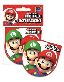 Super Mario Bros Party Notebook Favours 4 PK
