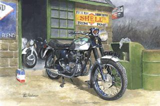 Triumph Bonneville British Rockers 1960s motorbike Motorcycle Birthday Card