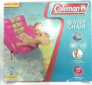 Coleman Pool Float Water Chair Lake Tubing Snap N' Stay Connects 2 Floats