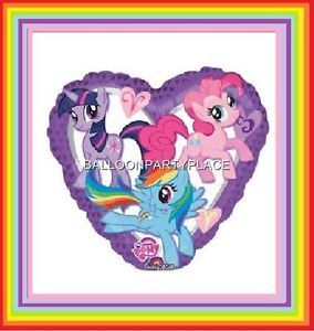 Heart My Little Pony Balloon Rainbow Dash Birthday Party Supplies Decorations