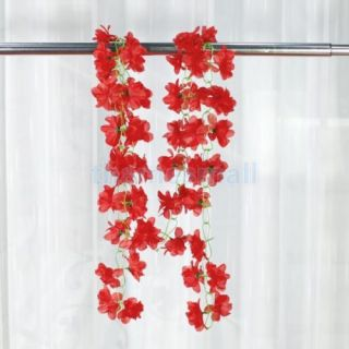 10pcs Artificial Azalea Garland Silk Flower Vine Wedding Party Garden Decoration