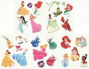 25 Assorted Disney Princess Tattoos Birthday Party Supplies Favors Princesses