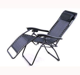 Outsunny Black Zero Anti Gravity Lounge Chair Folding Patio Recliner Pool Seat