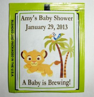 30 Baby Simba Lion King Baby Shower Tea Bag Labels Favors