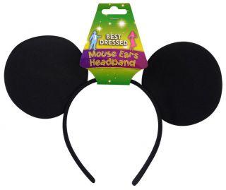 Fancy Dress Mickey Mouse Ears Black Mouse Ears Headband