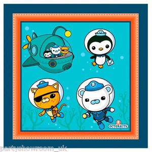 16 Octonauts Party Adventure Barnacles Kwazii Peso Disposable 33cm Paper Napkins