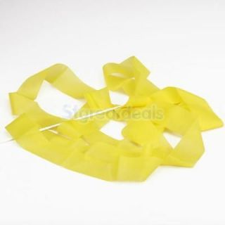 Gym Rhythmic Gymnastic Ballet Dance Ribbon Streamer New Year Party Yellow