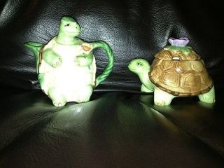 Otagiri Mary Ann Baker Turtle Sugar Caddy Bowl Creamer Set