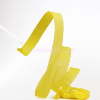 Yellow Gym Rhythmic Gymnastic Ballet Dance Ribbon Streamer Party Musical Theatre