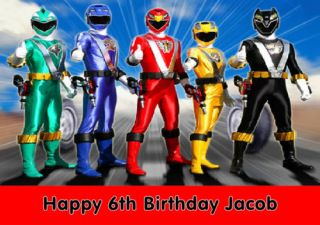 Personalised Power Rangers RPM Birthday Card Large A5